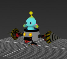 Chao over Bowser Jr. WIP (Please help)