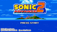 Sonic Advance 2 - Mania Edition