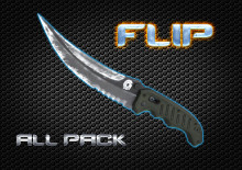 All Flip Knife HD skins for cs 1.6