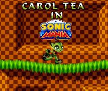 Carol Tea in Sonic Mania