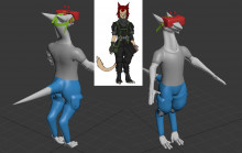 High poly Sergal model