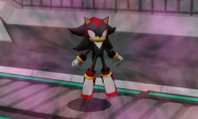 Shadow (assist trophy model) over Sonic