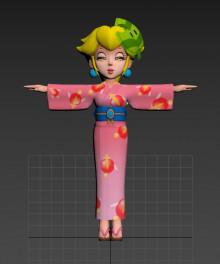 Concept art Yukata Peach