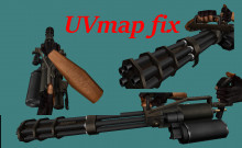 M134 Vulcan Minigun (Fix UV map + Add Detail)