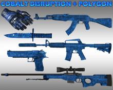 Cobalt Disruption pack + Polygon gloves