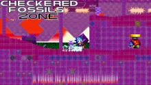 Checkered Fossils in Sonic Chaos
