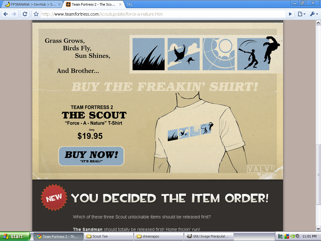 Scout Tee for BLU Scout