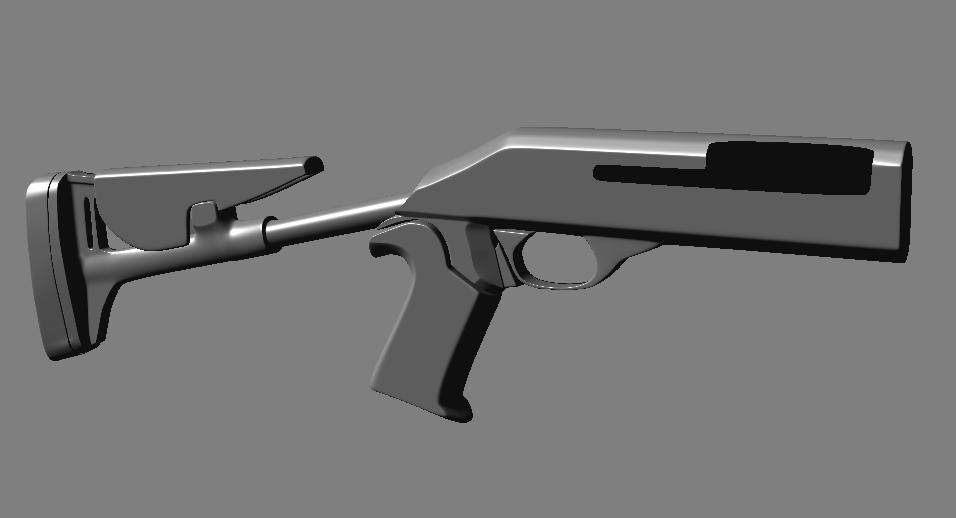 high poly shotgun