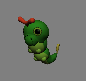 caterpie :) (no cell shade)