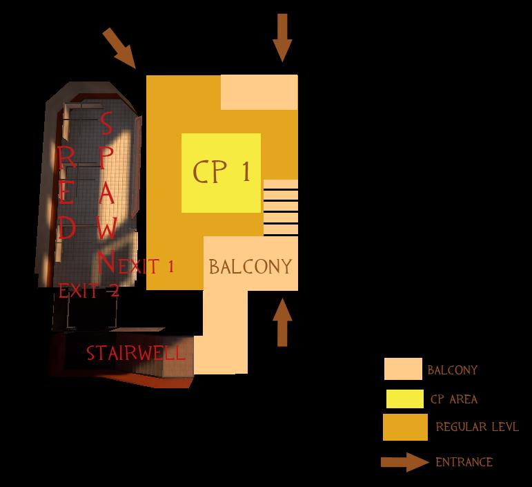 Alpha: Red spawn + CP1