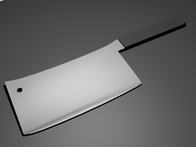 butcher's meat cleaver