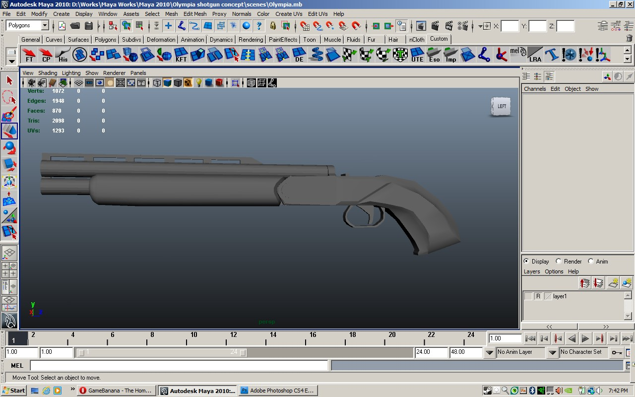Sawed-off Olympia WiP screenshot #1