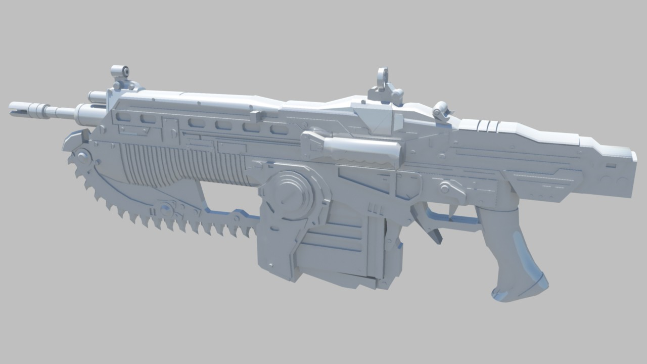Model done, now texturing WiP screenshot #3