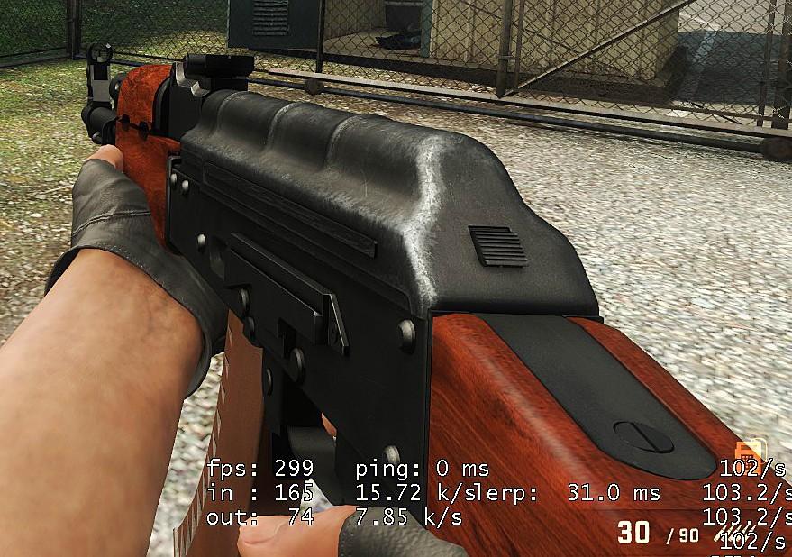 CSGO AK47 retex, early WiP screenshot #1