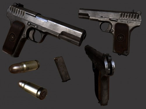 Tokarev TT Texturing (DONE) WiP screenshot #1