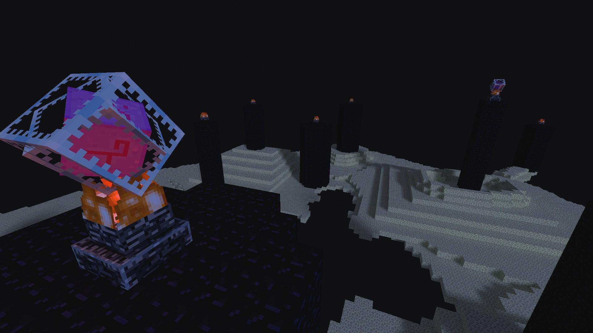 Как сделать портал в зимний мир в minecraft