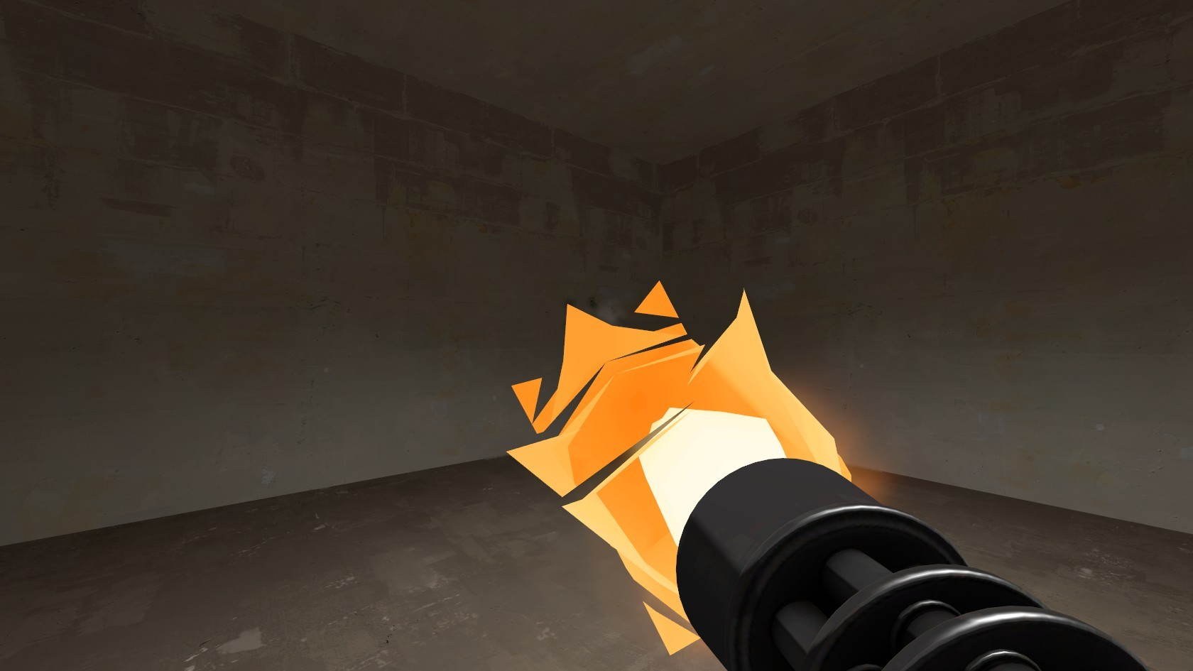 Tf2 Beta minigun muzzleflash restoration WiP screenshot #3