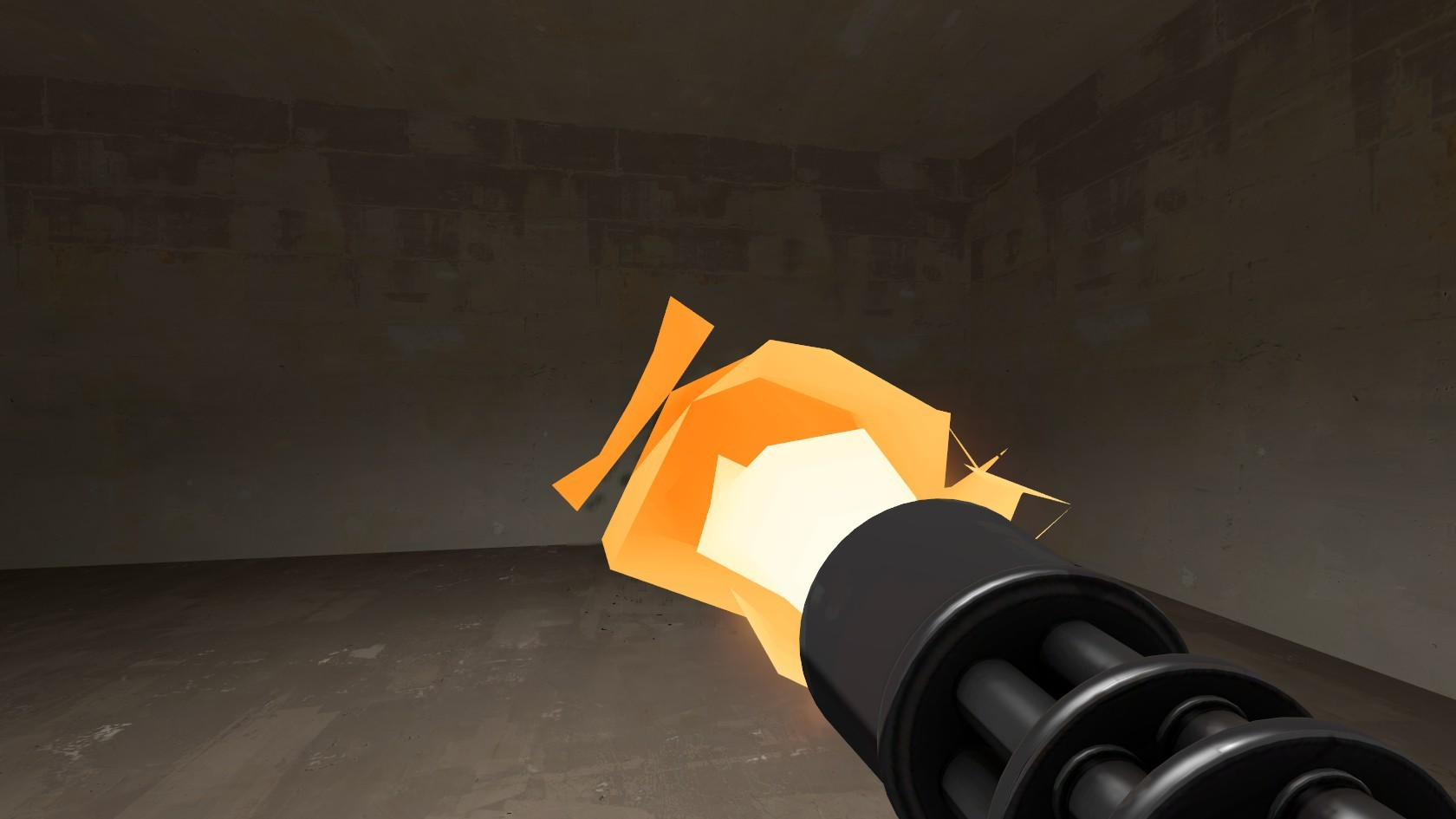 Tf2 Beta minigun muzzleflash restoration WiP screenshot #4