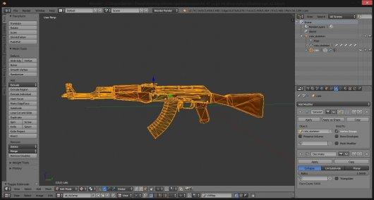 Optimized model CS:GO AK47