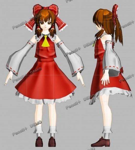 Hakurei Reimu from Touhou WiP screenshot #1