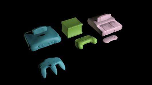 Steam Box, N64, SNES + controllers