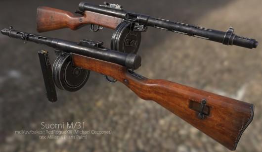 Suomi M/31 textures