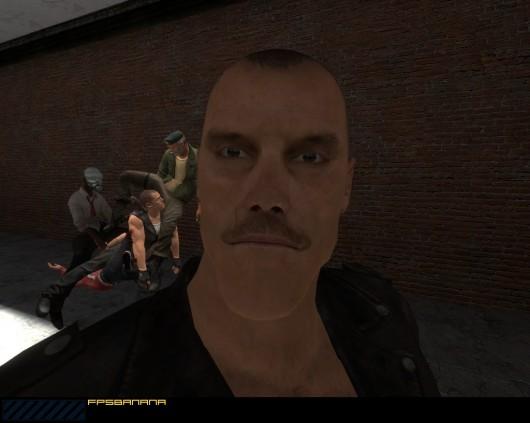 Mustachioed faggotry