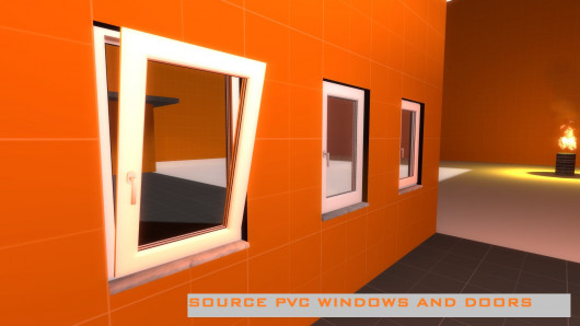 PVC window and door models