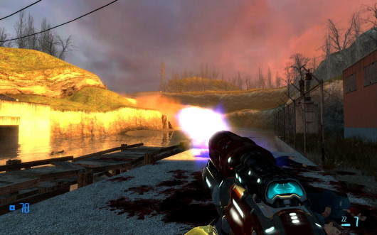 Quake 4 Railgun and HyperBlaster for Half-Life 2