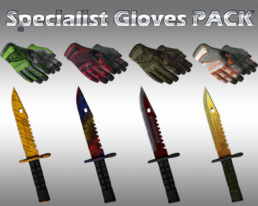 HD Specialist Gloves + M9 Bayonets