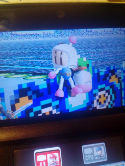 Bomberman over mario
