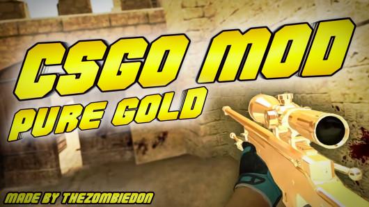 [CS:GO Mod] Pure Gold CS:GO Skins