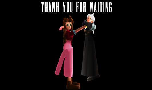 Aerith has some words for Sephiroth