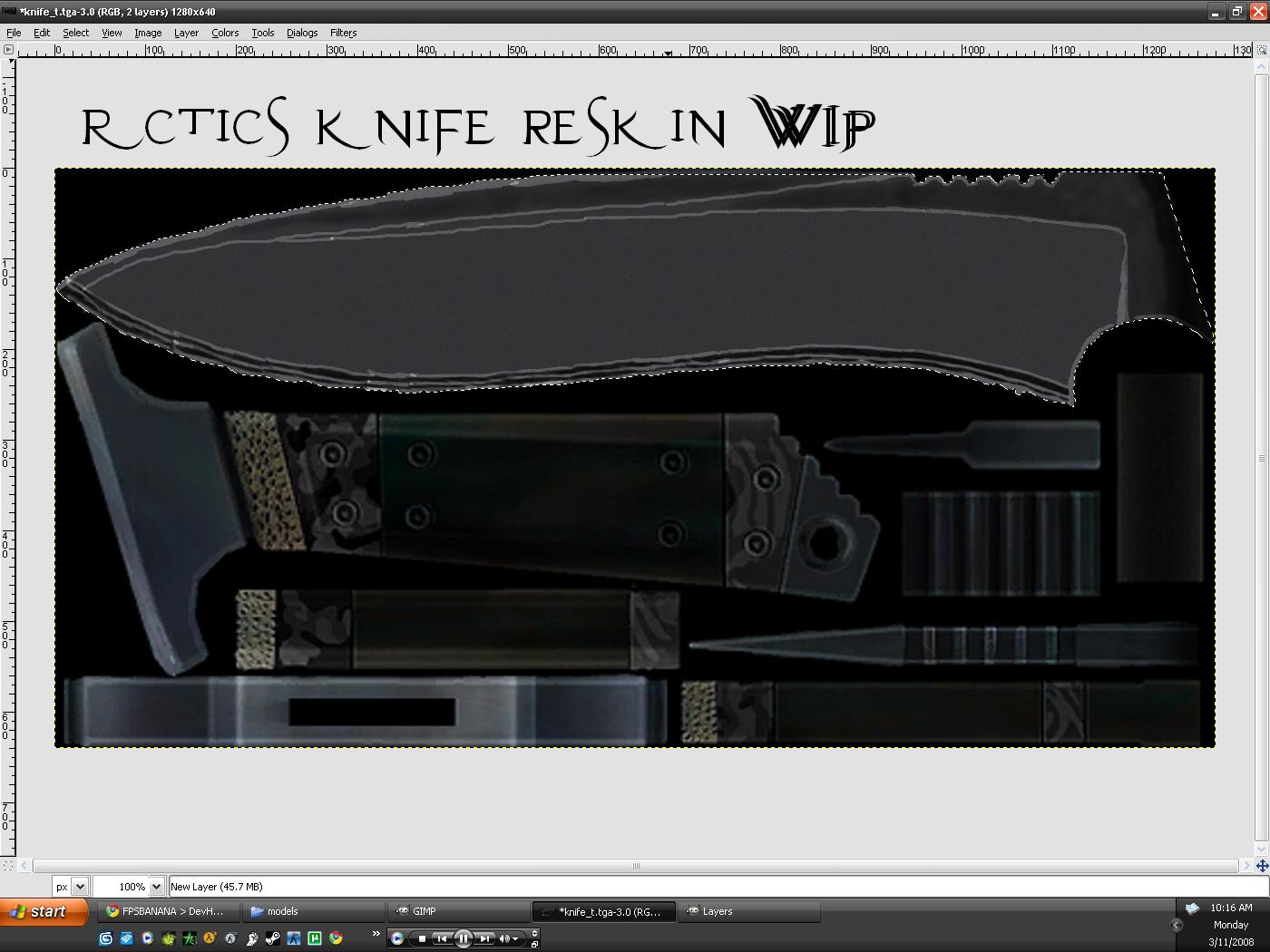 Rctic's reskinned knife