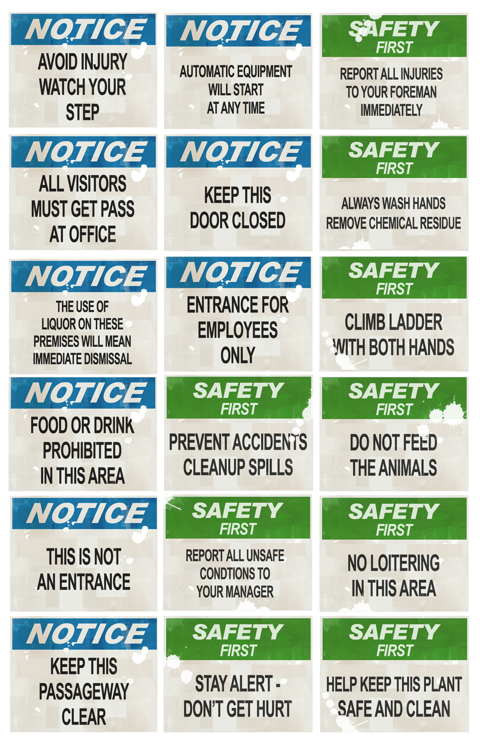 TF2 Sign Pack: Warnings