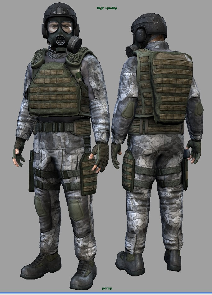 H.E.C.U soldiers for Half Life 2 | Half-Life 2 Works In ...