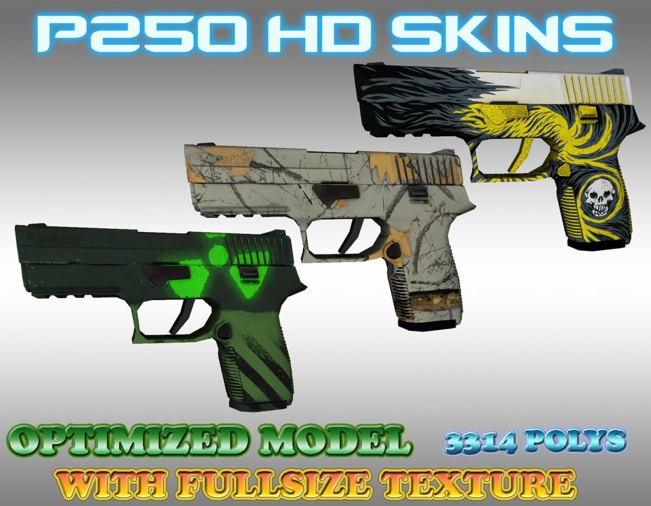 CS:GO P250 HD Skins (CS1 6) [Counter-Strike 1 6] [Works In
