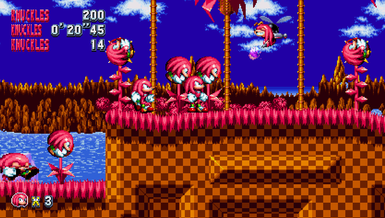Knuckles Mania And Knuckles [Sonic Mania] [Works In Progress]