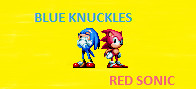 Blue Knuckles and Red Sonic