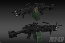 Tactical M249 [DONE] Skin preview