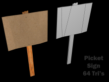 Picket Sign WiP preview