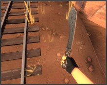 Engraved machete preview