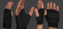 Black Heavy Gloves Hand preview