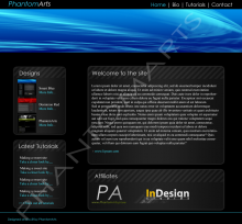 Smart Blue Template Skin preview