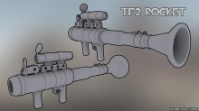 TF2 Rocket Modelling done Skin preview