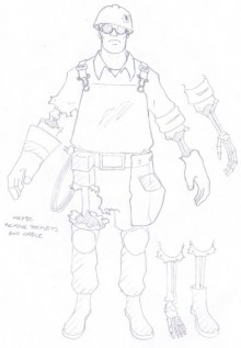 Engineer Concept art Skin preview