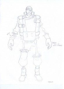 Demoman Concept art Skin preview