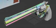 Python .357 8in UV mapping Model preview