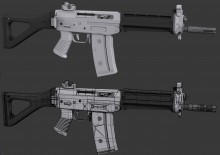 SGG552 Model - Final Low Poly > High Poly WiP preview