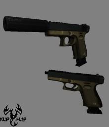 Tan glock 2 versions Skin preview